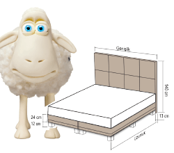 """Тапицирани спални Serta / Тапицирано легло """"Magnum"""""""