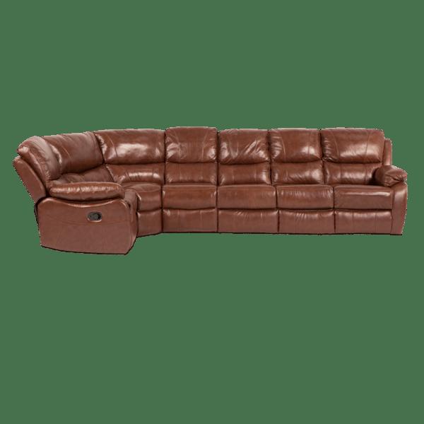 Кожен ъглов диван AMELIA с релакс механизъм мебели Carmen