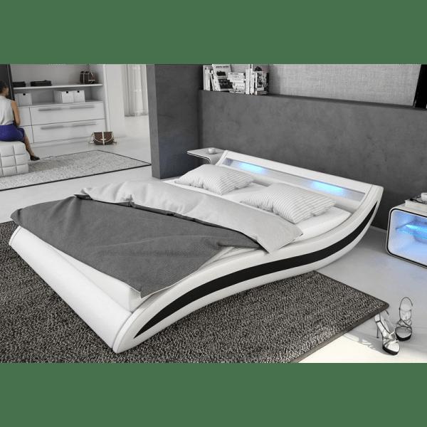 Спалня LAURA бяло-черно мебели Carmen