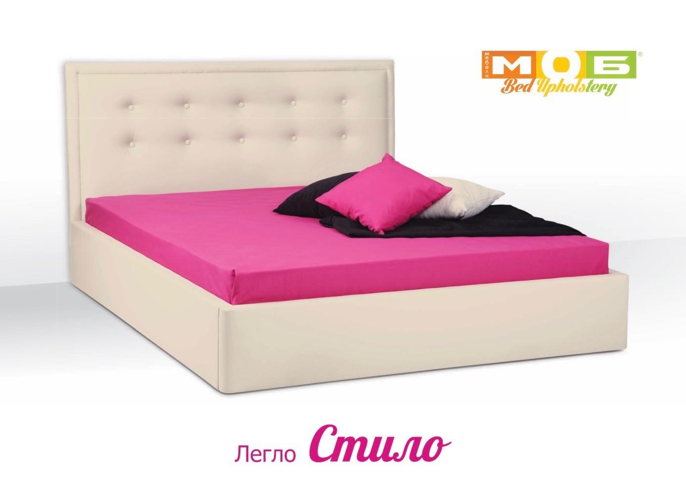 213369b97fa Тапицирано легло Стило Mебели Моб – Матраци и подматрачни рамки от ...
